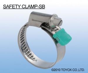 日本TOYOX-管件,管卡,不锈钢喉箍,安全的100%不锈钢材质SB型 (SAFETY CLAMP-SB)/SB