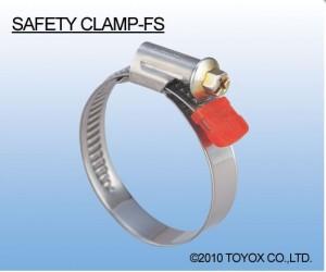 日本TOYOX-管件,不锈钢,管卡,喉箍,安全的部分不锈钢材质FS型 (SAFETY CLAMP-FS)-FS