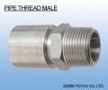 日本TOYOX-管件,不锈钢接头,螺纹管接头(外螺纹),金属接头,(PIPE THREAD MALE)/H01